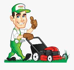 Man using a lawnmower