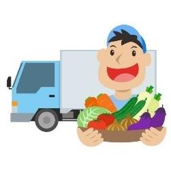 Person delivering vegetables