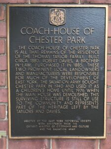 Historic Plaque at Coach House